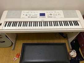 Piano Digital Yamaha DGX 650 White