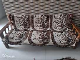Sagwan wood 3*1*1 sofa up for sale
