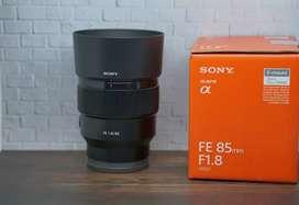 Lensa Sony FE 85mm f1.8 Garansi - Mulus Like New
