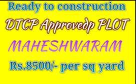 READY TO CONSTRUCTION PLOT IN MAHESHWARAM TOWN