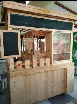 Gerobak kayu / booth portabel / grobak murah / grobak Jakarta barat