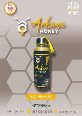 Madu Hitam Liar Madu Murni Arkana Honey 550gram