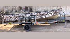 Fiberglass Boat with trailer