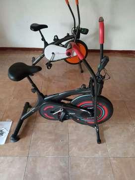 Sepeda statis platinum bike dengan lengan bergerak ( garansi setahun)