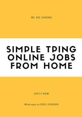 Earn real payment by working with us simple typing jobs online
