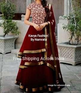 Maroon Ethnic Dress