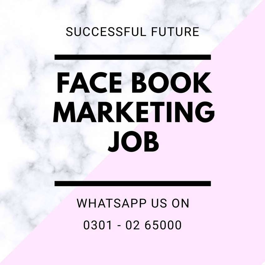 We need extra ordinary students for face book marketing work