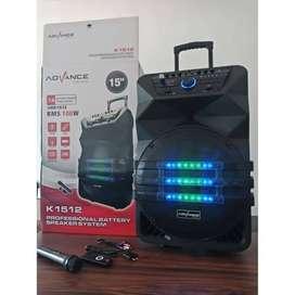 Speaker Portable Advance 12 Inch Meeting Bluetooth Gratis 2 Mic Wirele
