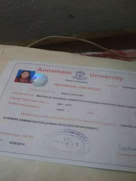 Completed MBA  Want job