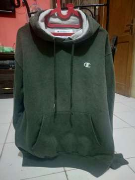 Hoddie Champion Green Original Size M Fit XL