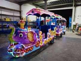 Kereta mini wisata motor gajah ready stock odong full lampu LED 11