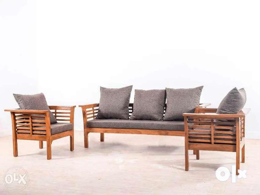 Wooden teak 5 seater sofa 0