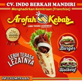 dijual franchise arofah kebab