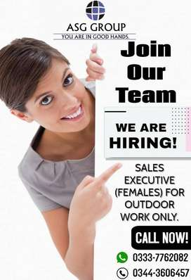 REQUIRED FEMALE SALES EXECUTIVE FOR OUTDOOR WORK