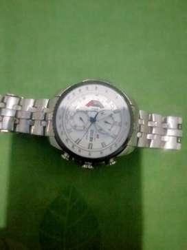 Jam tangan Swiss army original warna stainless