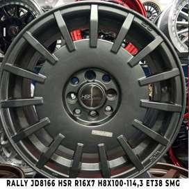 free ongkir RALLY JD8166 HSR R16X7 H8X100-114,3 ET38 SMG