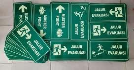 Papan Nama Akrilik Surabaya Signage Safety Sign Letter Timbul Neon Box