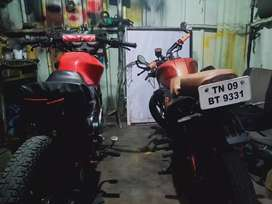Modified the bikes and paintong works