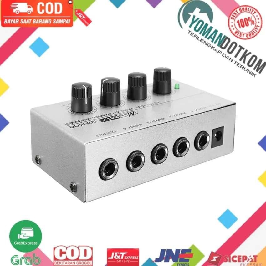 MX400 Professional Ultra-compact Mixer Karaoke Amplifier 4 Channel 0
