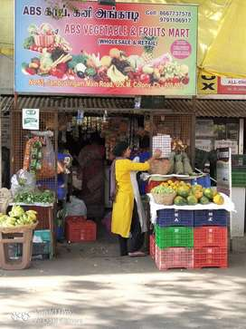 Provisional and vegetable, fruit Shop for sale