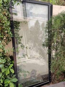 aluminium glass windows 7 sliding with ms grills
