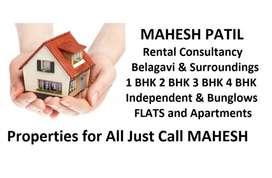 1bhk 2bhk 3bhk 4bhk House for rent Belagavi