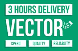 I will vectorize, vector tracing, logo to vector, within 2 hours
