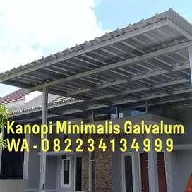 kanopi galvalum C atap spandek surabaya, sidoarjo dan gresik