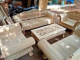 kursi tamu madura stock kaki macan mentah materil kayu jati pilihan