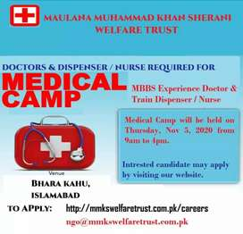 URGENT Female MBBS DOCTOR AND DISPENSER /NURSE REQUIRED