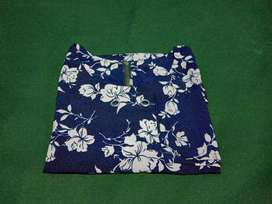 Flower blouse navy