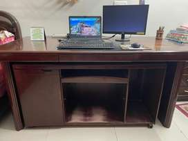 Premium wood office table with side/inner table