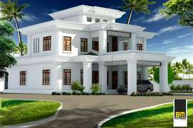 33 cent land.3750sqft house 7 bedroom attached.tw0 daininghall..
