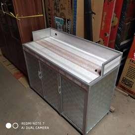 meja kompor 3 p plat belakang