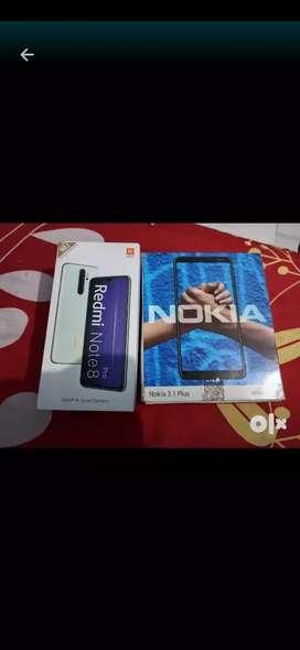 Mi note 8pro 6gb 128gb 1 mont old .Nokia 3.1plus 3gb 32gb