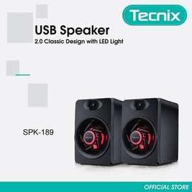 Speaker Tecnix SPK-189 - USB Speaker with LED Light