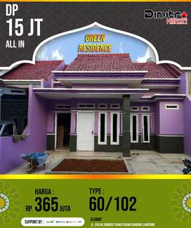 Green Residence, DP 15jt all in