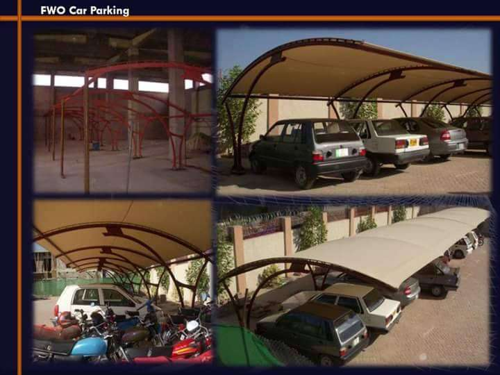 Tensile fabric shades for car parking 0