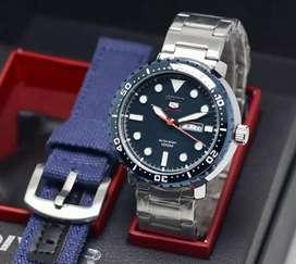 jam tangan seiko dark blue stanlies fullset include lengkap