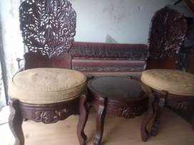 2 chair with table