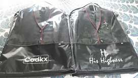 2 sets Coat, inner jacket and tie and 2 pcs Black pant for 6-7 yrs