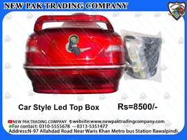 RED CAR STYLE TOP BOX