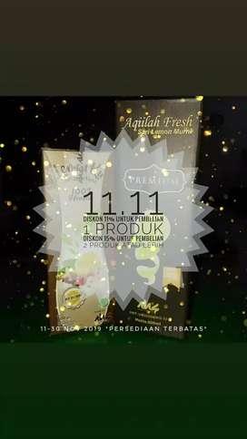 Promo 11.11 LemonKu dan Aqiilah Sari Lemon Fresh