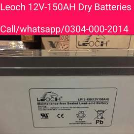 150Ah & 200Ah Dry Batteries Box Packed