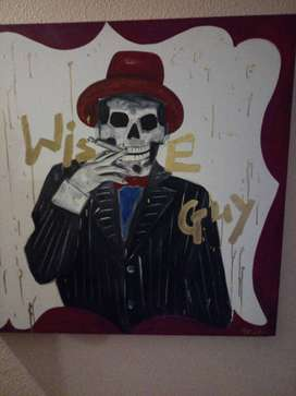 Skull Art Painting framed and other paintings