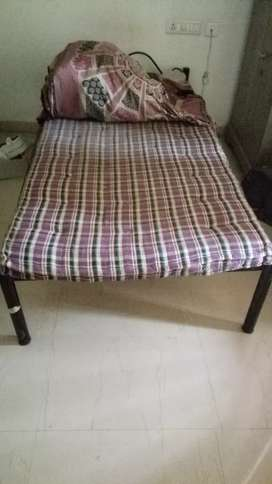 Iron single bed with ply top