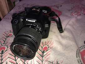 Canon 1300d with 2 lenses