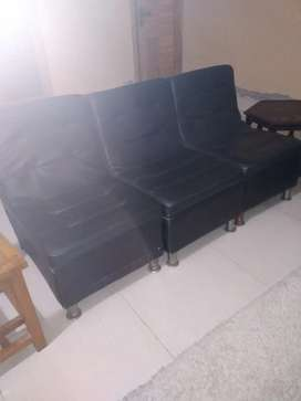 Leather sofa chairs 4 piece
