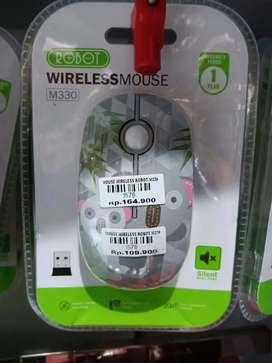 Mouse wireless motif robot garansi resmi 1 tahun.