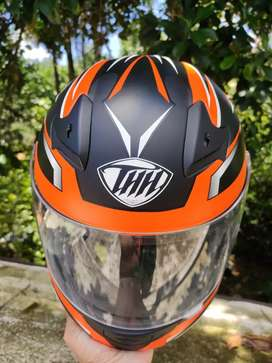THH HELMETS T-76 Xtreme Full Face Single Shield Helmet (Black/Orange)